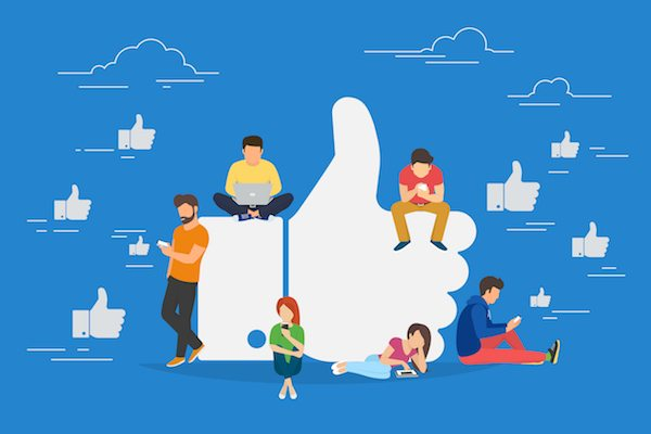 Người dùng tương tác trên Facobook