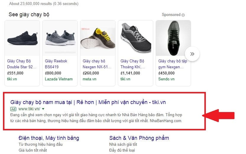 Mô tả quảng cáo tìm kiếm động