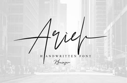 Font Ariel Signature