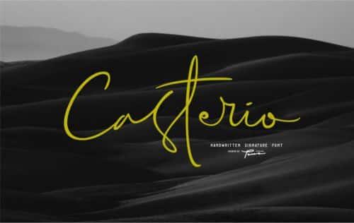 Font Casterio Signature
