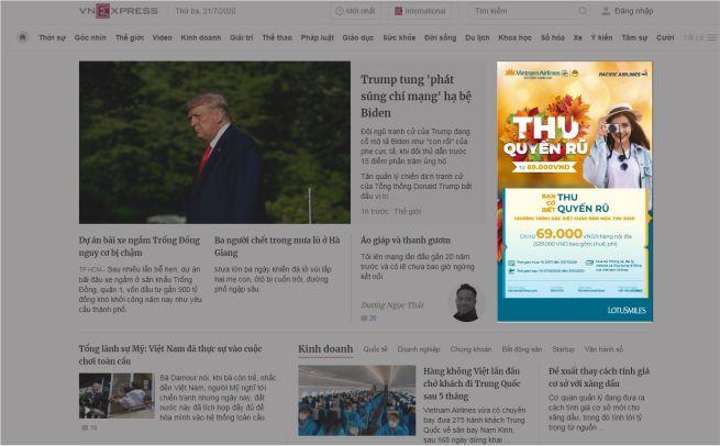 Banner website - quảng cáo
