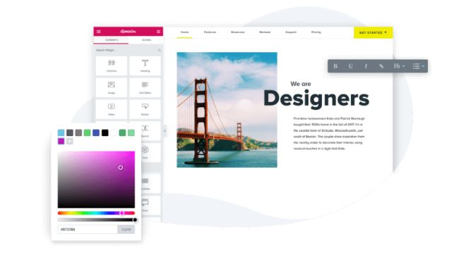 thiết kế web kéo thả