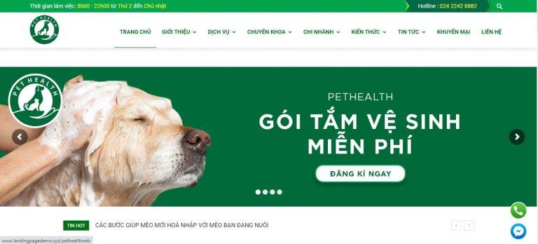 Thiết kế website thú cưng