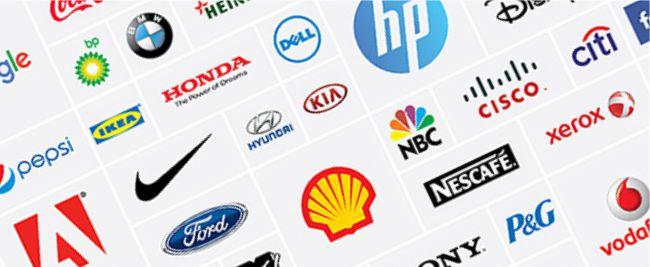 Logo thương hiệu nổi tiếng và đơn giản