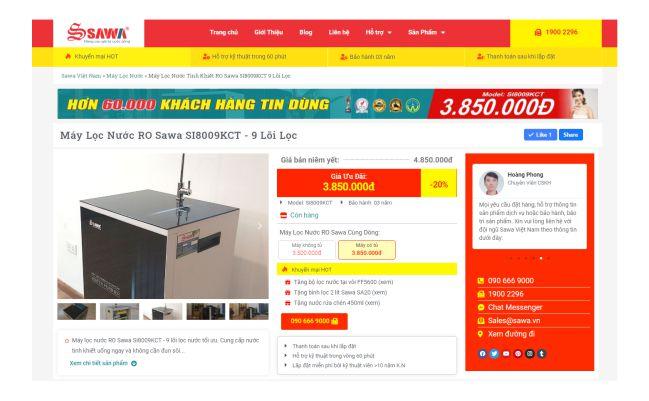 Một loại website bán hàng