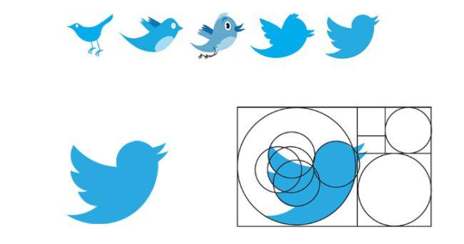 Xoắn ốc Fibonacci - Thiết kế logo Twitter