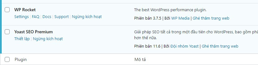cài đặt plugin wordpress