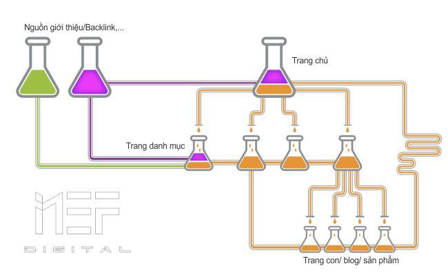Mô tả cơ chế cơ bản của link juice
