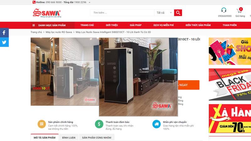 Khách hàng có thể tùy ý thu phóng ảnh trên website khi cài ZWoom