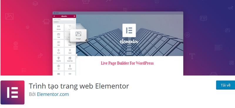 Elementor Plugin là trình tạo trang phổ biến trên WordPress
