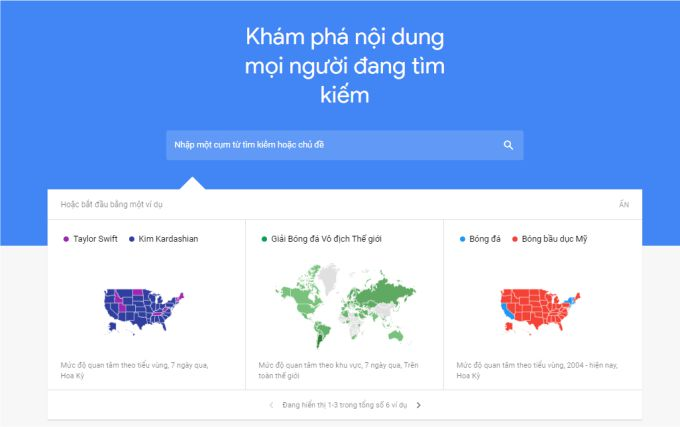 Tìm ý tưởng tiếp thị nội dung bằng Google Trends