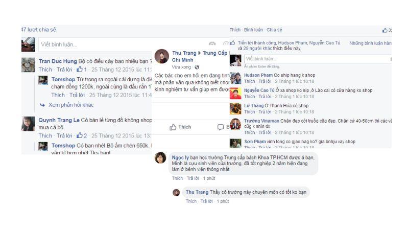 Một số ví dụ về hoạt động Seeding trên Facebook