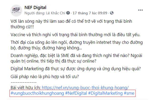 Hashtag Nef Digital Trên Facebook